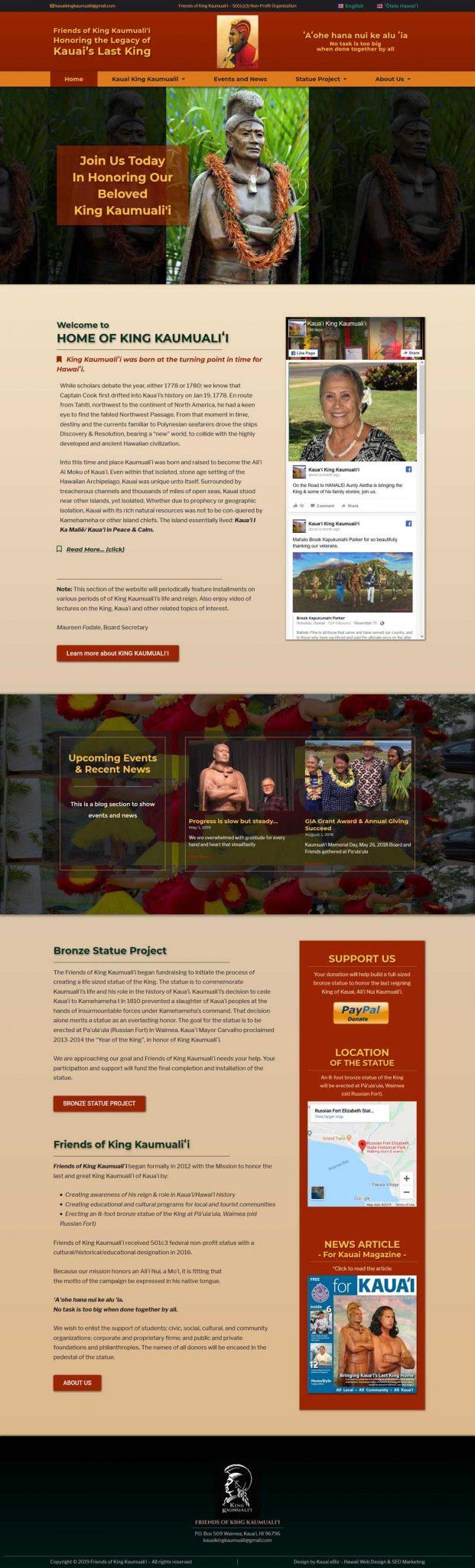 portfolio Kauai King Kaumualii