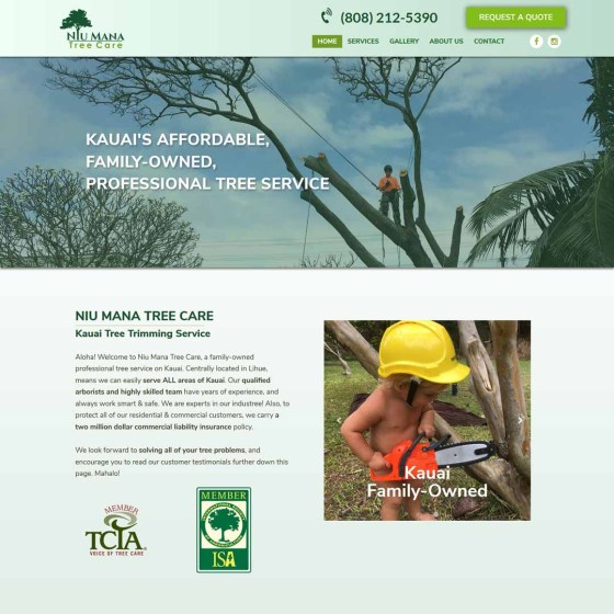 Kauai Tree Trimming Website
