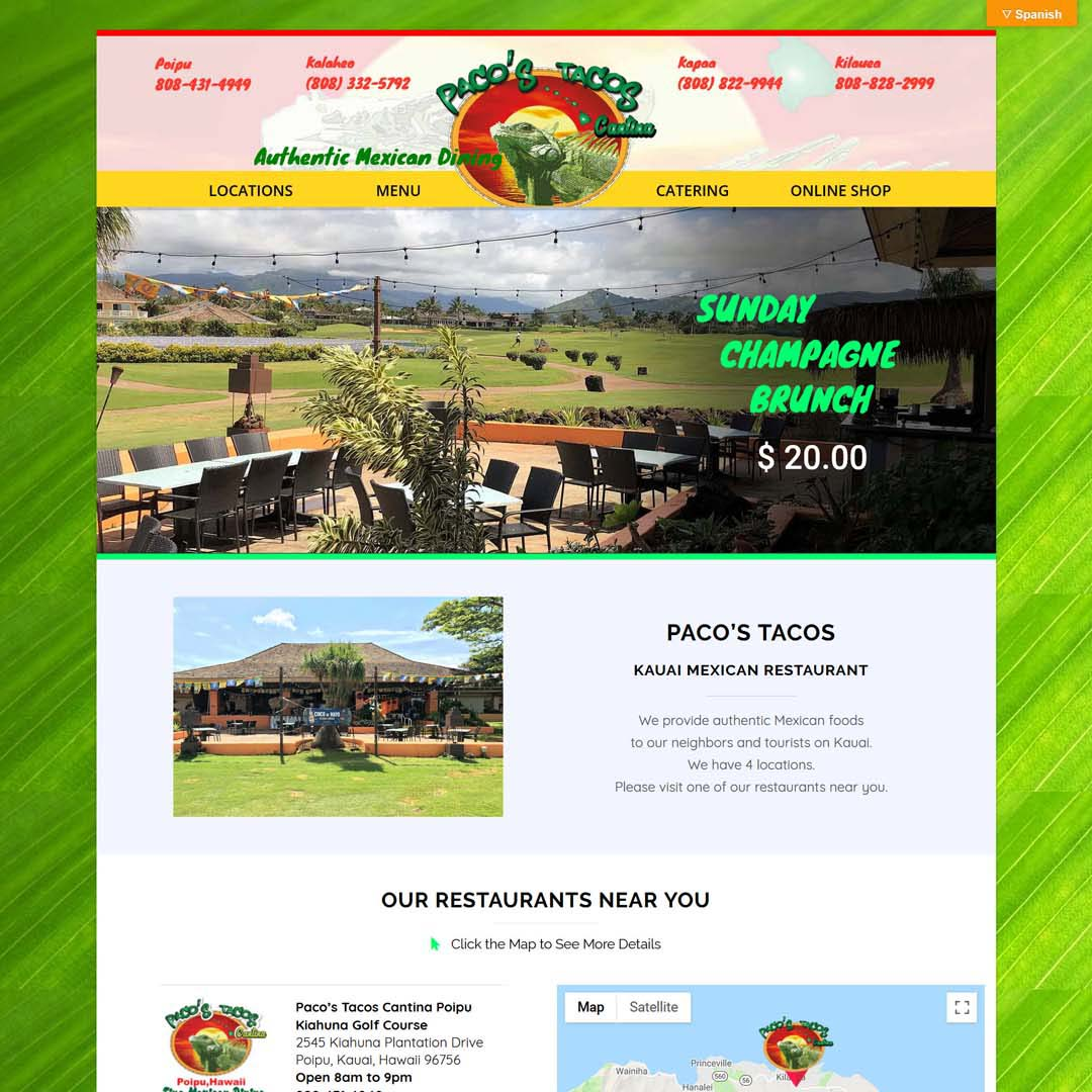 Online Shop Website Hawaii