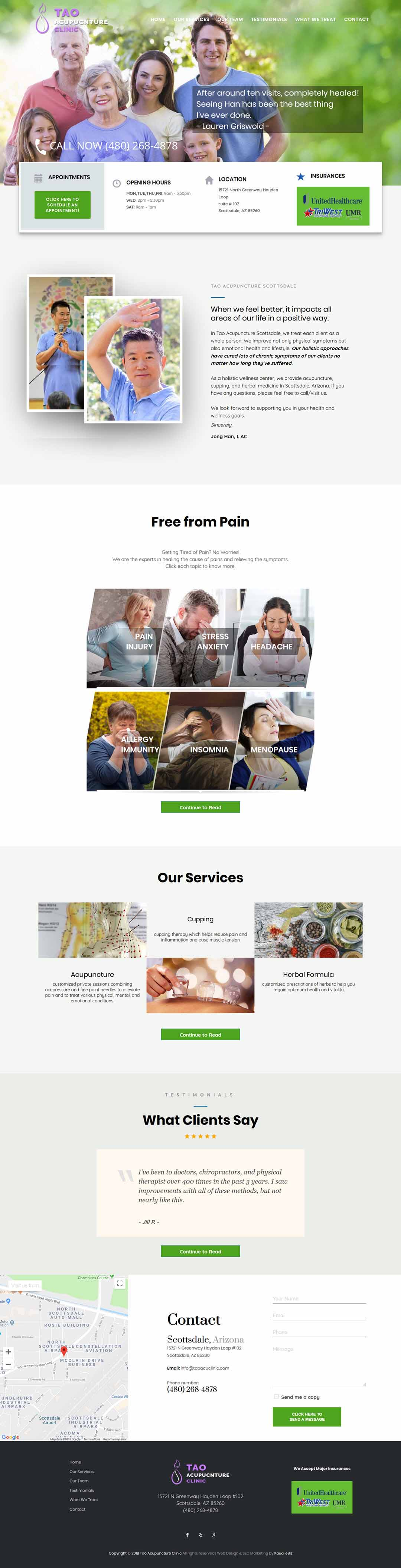 Acupuncture Clinic Website