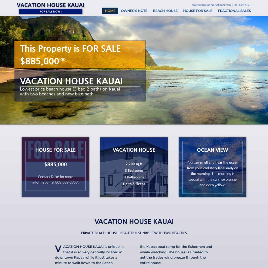 Vacation House Kauai For Sale Website
