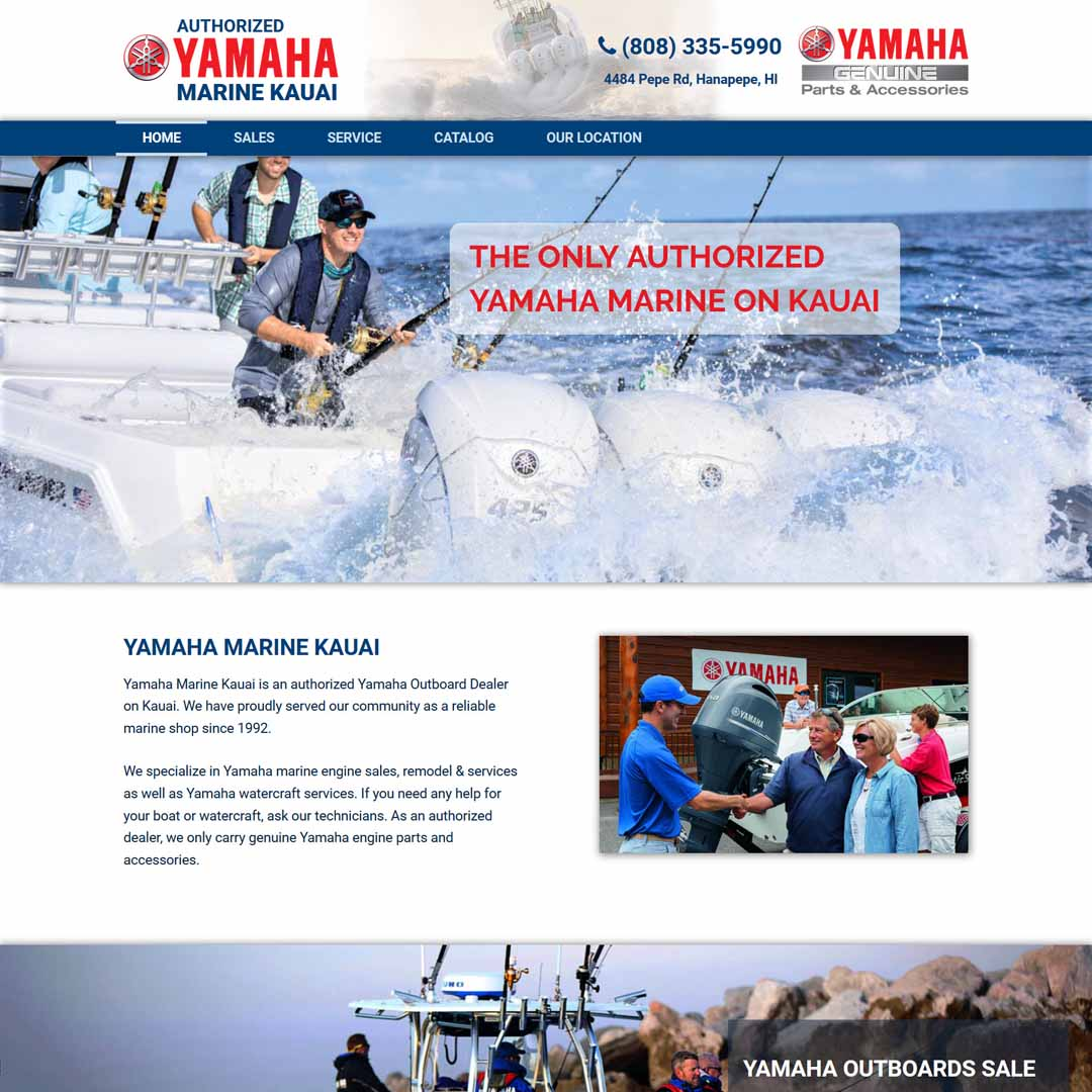 Yamaha Marine Kauai Website