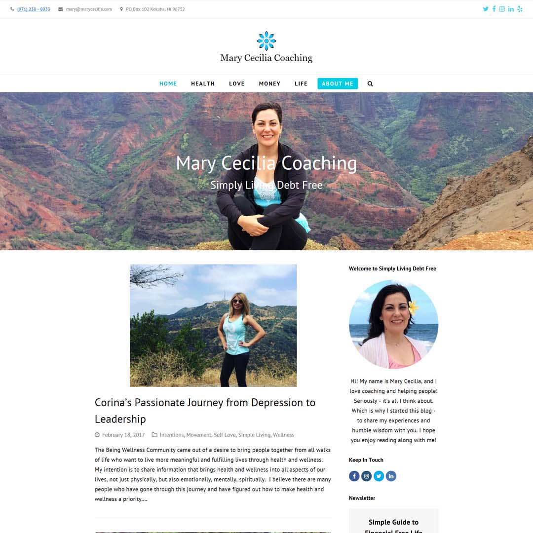 Personal Blog Design Hawaii