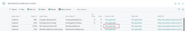 web services list