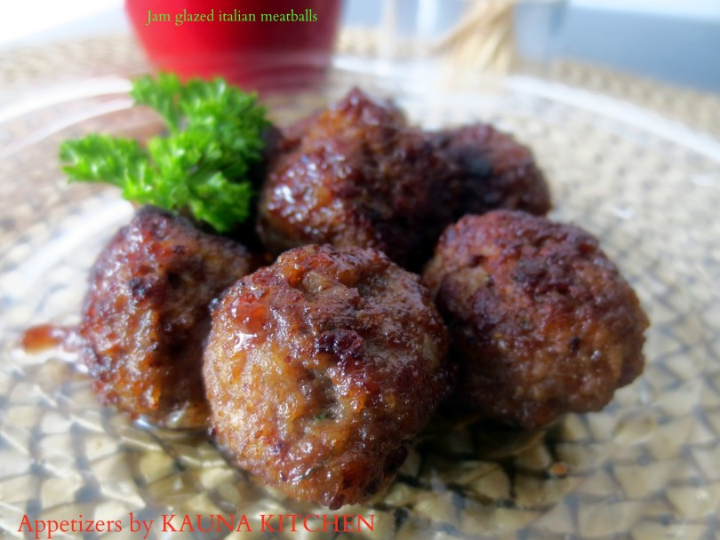 Jam Glazed meatballs