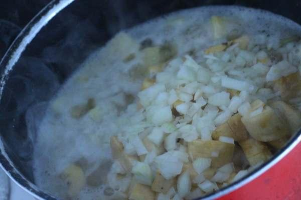 Sweet Potato and Plantain Porrridge