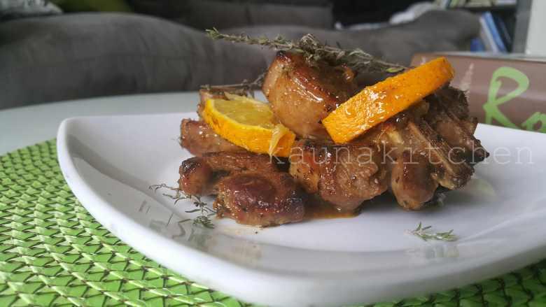 Orange-thyme turkey
