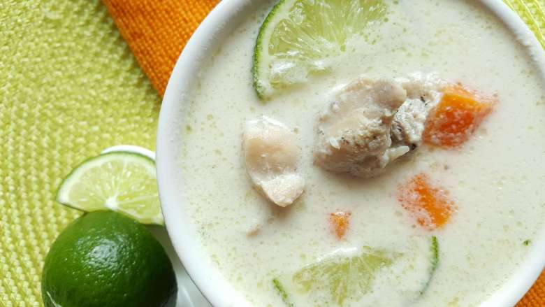 nigerian coconut lime chicken soup