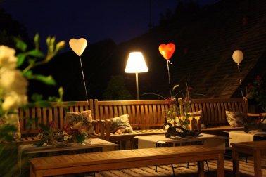 Dachterrassen Flair bei Nacht