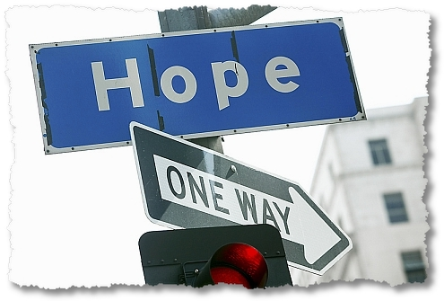 image of a signboard pointing to the direction of hope