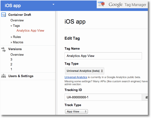 google tag manager mobile ios tracking