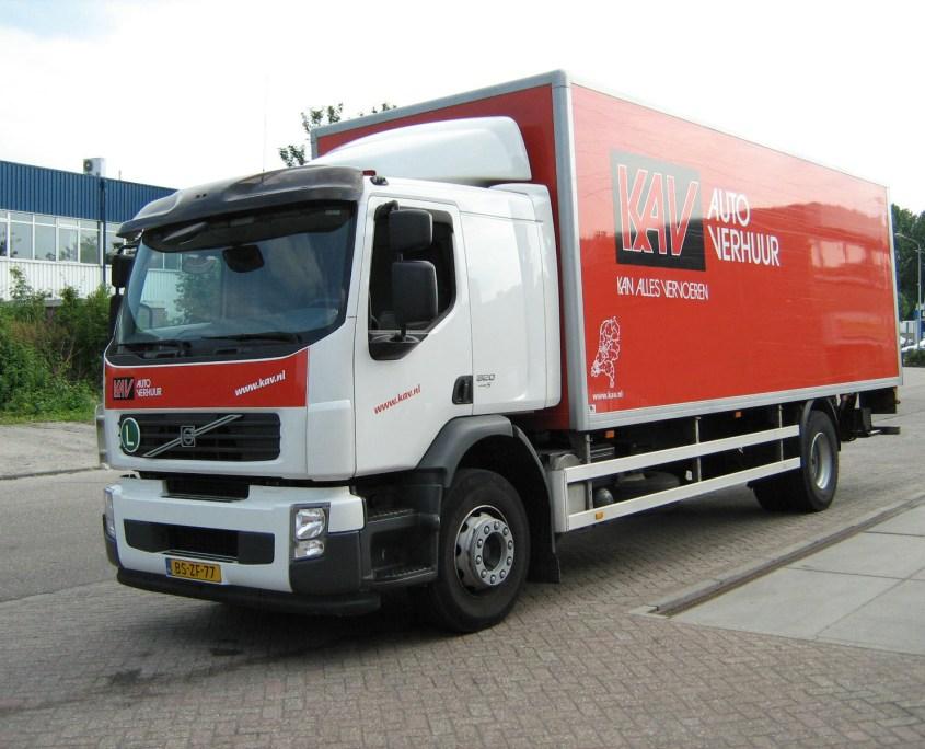 Vrachtwagen huren KAV Autoverhuur