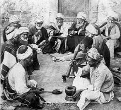 Kávéház Palesztínában 1900 körül