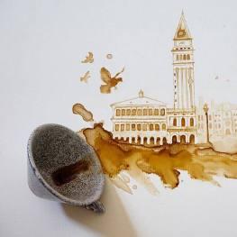 Velence - Festmények kávéból - Giulia Bernardelli