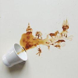 Álom - Festmények kávéból - Giulia Bernardelli