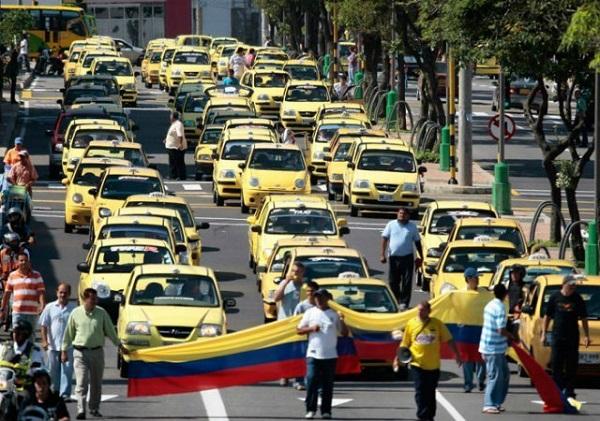Resultado de imagen para paro de taxistas