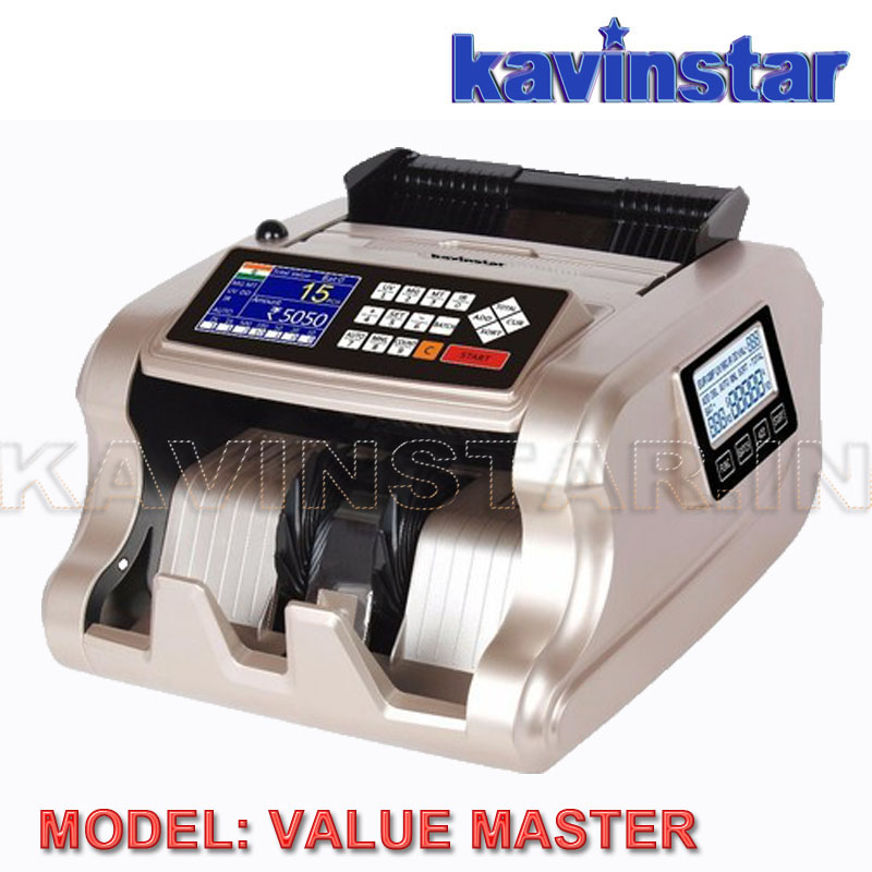 VALUE MASTER MIX VALUE COUNTING MACHINE WITH FAKE NOTE DETECTOR