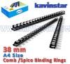 Comb bind Ring 38 mm, comb binding machine price, comb binding ring, Comb/ Spico Rings, spico binding ring, spico binding rings