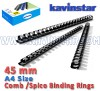 Comb bind Ring 45 mm, comb binding machine price, comb binding ring, Comb/ Spico Rings, spico binding ring, spico binding rings