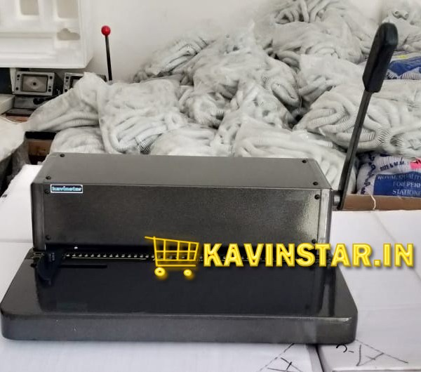 Kavinstar HD5 Heavy Duty A3 Spiral Binding Machine with 10-12 Sheets (70gsm) Punching Capacity