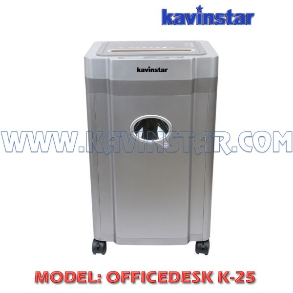 Kavinstar OFFICEDESK K25 Heavy Duty Paper Shredder Machine Shred Up to 20-25 Sheets at a time with Low Noise