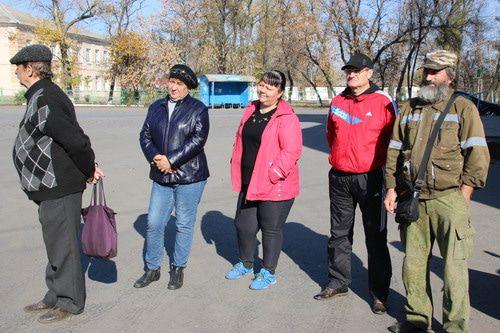 Участники пикета в Гуково, 26 октября 2019 года, Гуково. Фото Вячеслава Прудникова для «Кавказского узла»