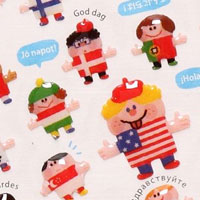 World flags children stickers