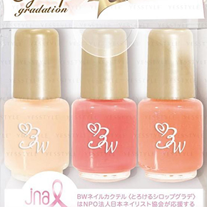 LUCKY TRENDY - Cream 3 Colours Cocktail Nail Polish
