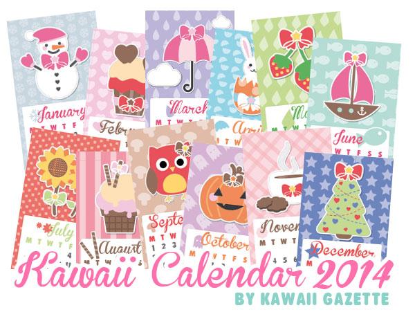 Kawaii Calendar 2014