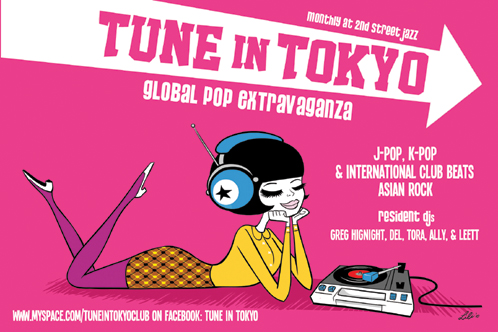 Tune in Tokyo flyer by Lili Chin