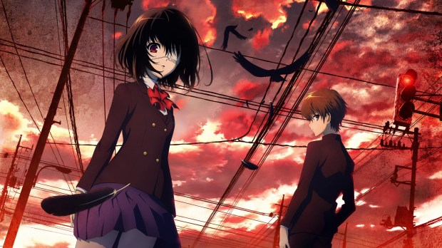 With the protagonists standing into front of foreboding scenery, it HAS to be scary!