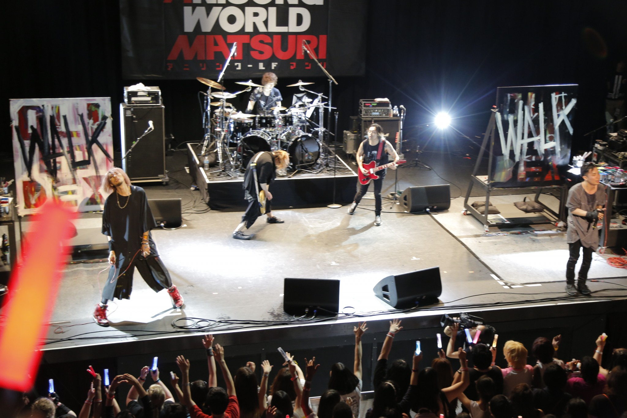 On July 3 Anime Expo 2016 Held A Band Battle Between OLDCODEX And FLOW Titled Anisong World Matsuri Japan Fans Of Both Bands Came To