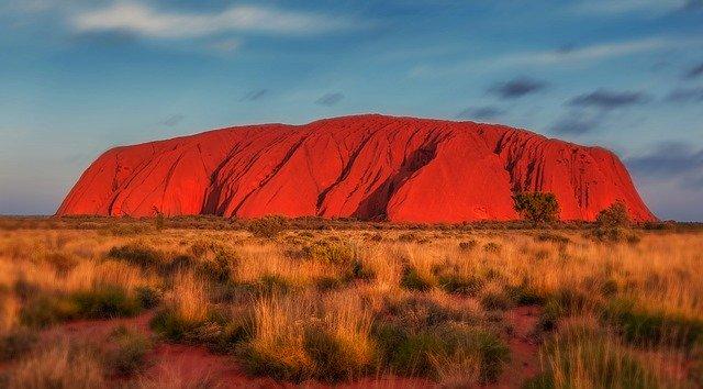 Skała Uluru Aborygeni