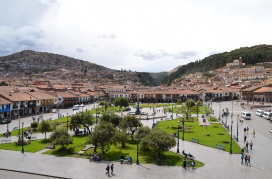 Plaza de las Armas vista da Igreja Compañia de Jesus