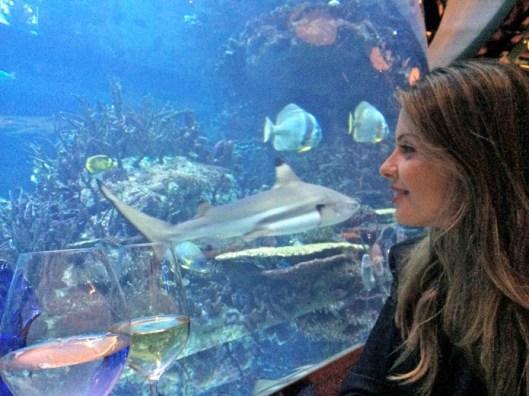 Restaurante com aquário em Dubai