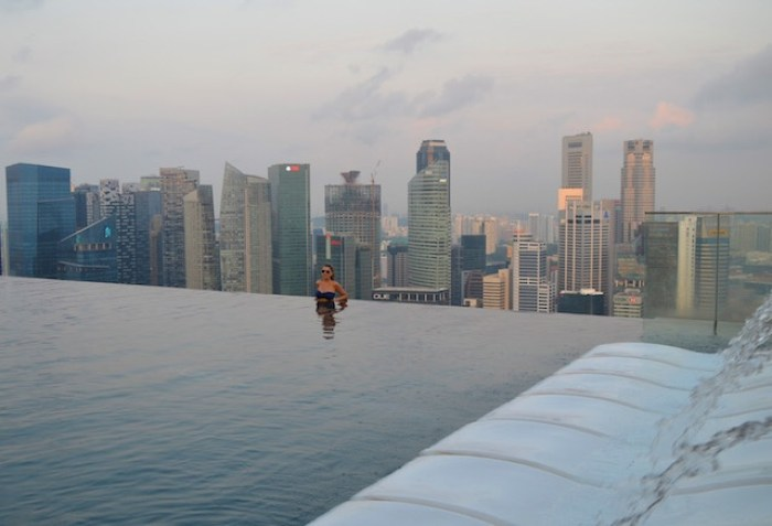 Piscinas de luxo em Singapura