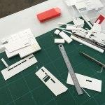 サーファーズの平屋-模型製作