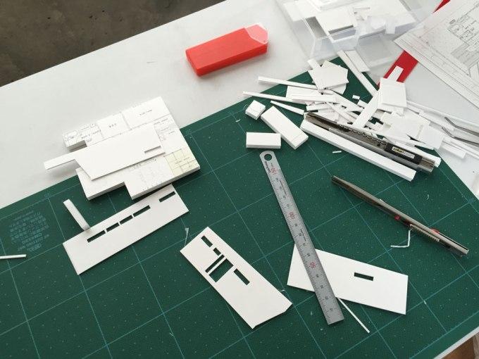 住宅設計 uy-house 模型 制作途中