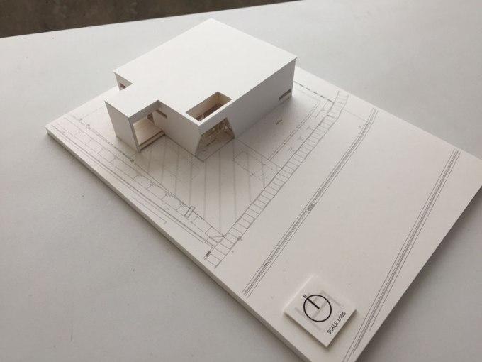 住宅の設計 模型制作