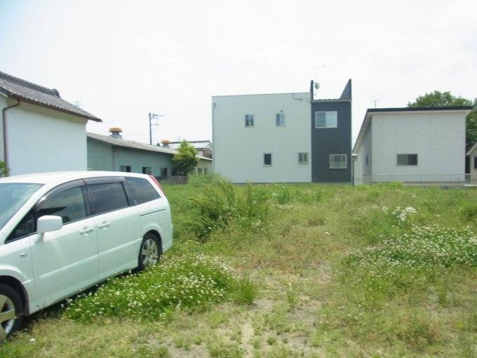 住宅の敷地調査 北側道路