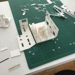 歴史的街並みに建つ家-住宅模型・プレゼン資料制作