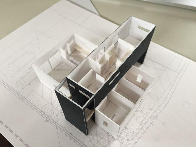 住宅建築模型の制作過程