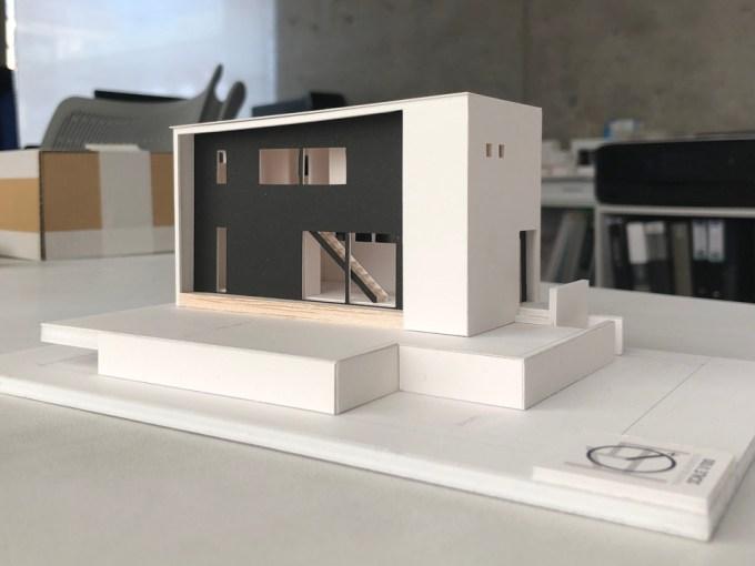 高台に建つデザイン住宅の設計プレゼン