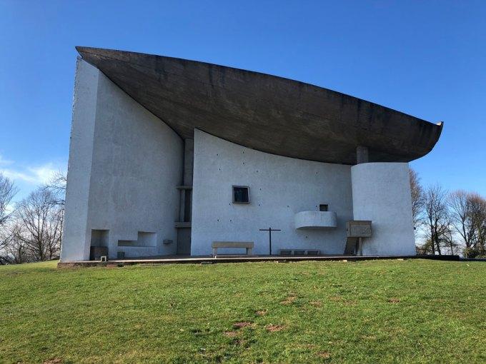 ロンシャンの礼拝堂の外観