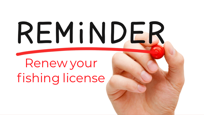 Renew Your Fishing License for 2020