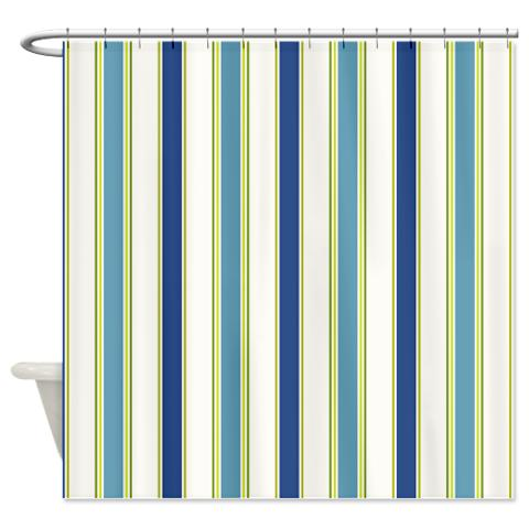 fresh blue green and white stripes shower curtain kawelamolokai com