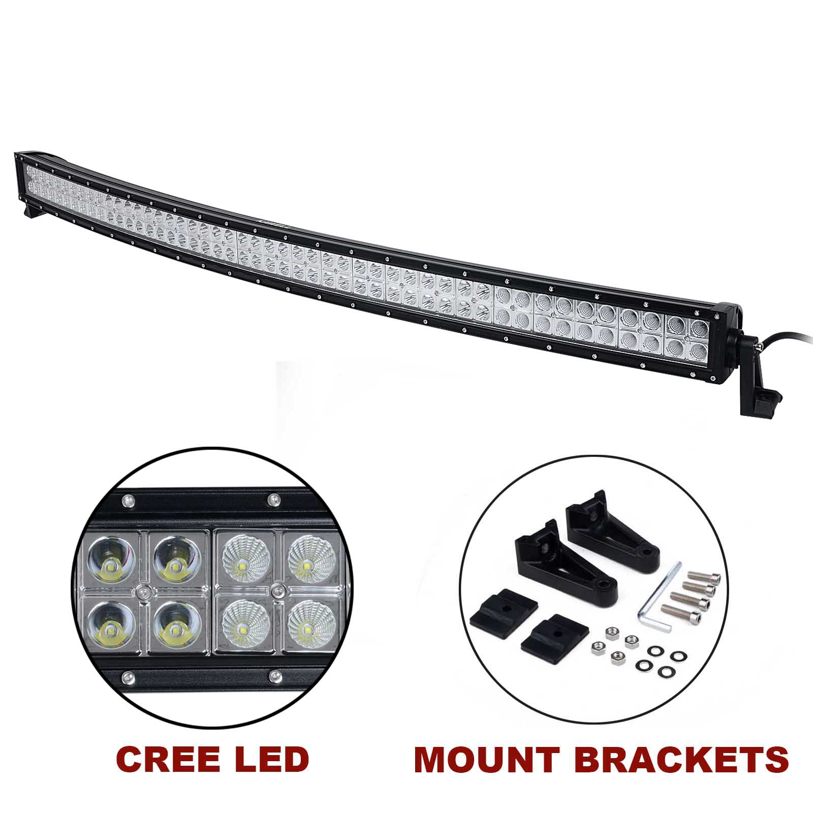 Kawell 50 288w Cree Curved Spot And Flood Combo Beam Led