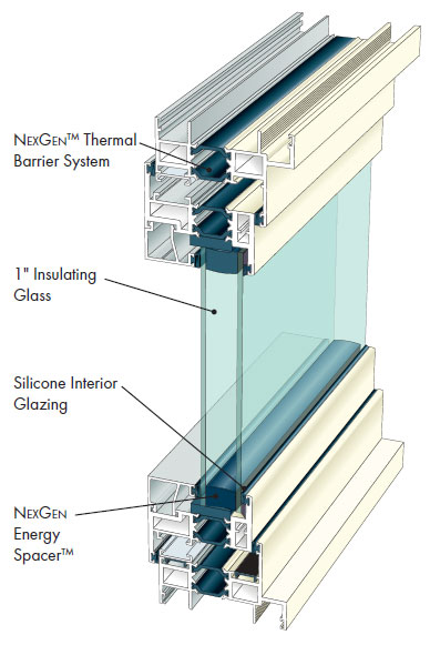 Architectural Outswing Casement Thermal Aluminum Windows