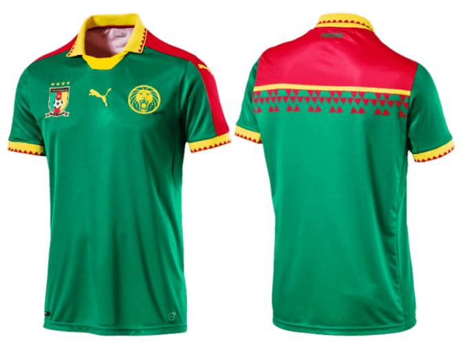 754ae7f7de4   media-credit  Cameroon Shirts. Cameroon national football team