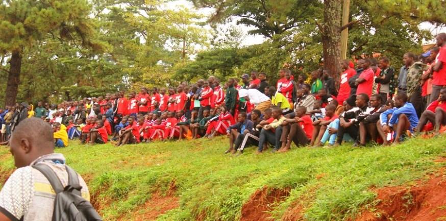 Jinja community wholesomely embraces the enticing copa 2019 football championship #Uganda Crowd at JICO 1